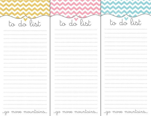 10 Rad Free To Do List PrintablesMade Peachy