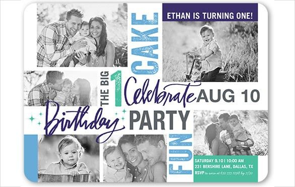 27+ First Birthday Invitation Templates – Free Sample, Example ...