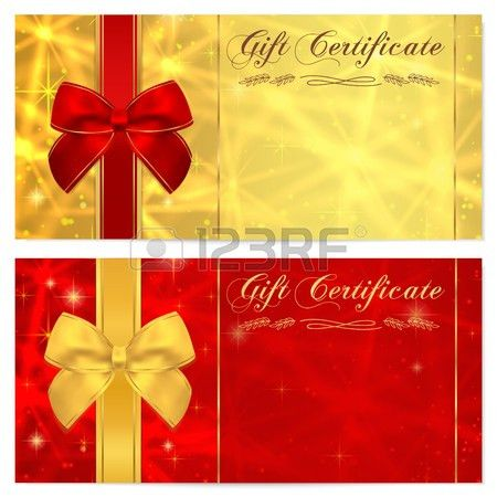 Gift Certificate, Voucher, Coupon, Invitation Or Gift Card ...