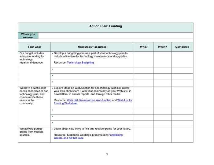 Action Plan Template - download free documents for PDF, Word and Excel