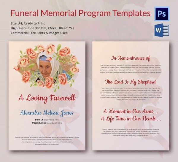Custom Card Template Memorial Cards For Funeral Template Free 79 .