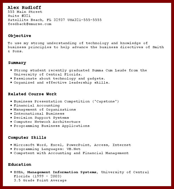 Impressive Design How To Write A Resume For The First Time 14 ...