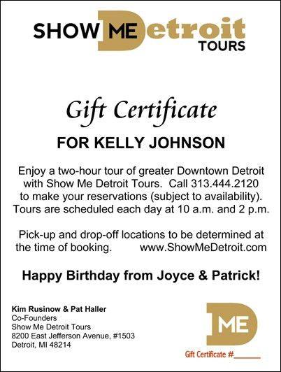 Show Me Detroit Tours