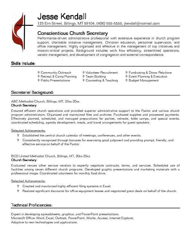 examples of secretary resumes professional secretary templates to