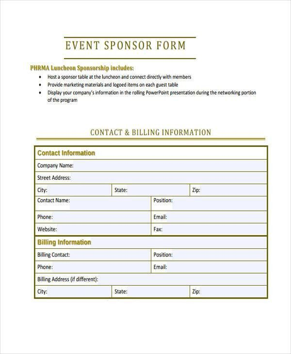 Sample Event Forms - 38+ Free Documents in Word, PDF