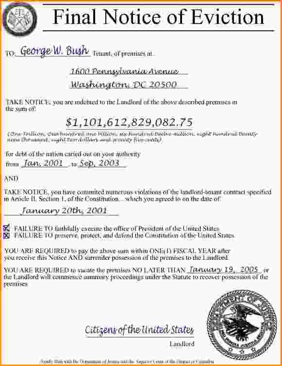 Sample Of Eviction Notice.Notice Of Eviction For Nonpayment.jpg ...