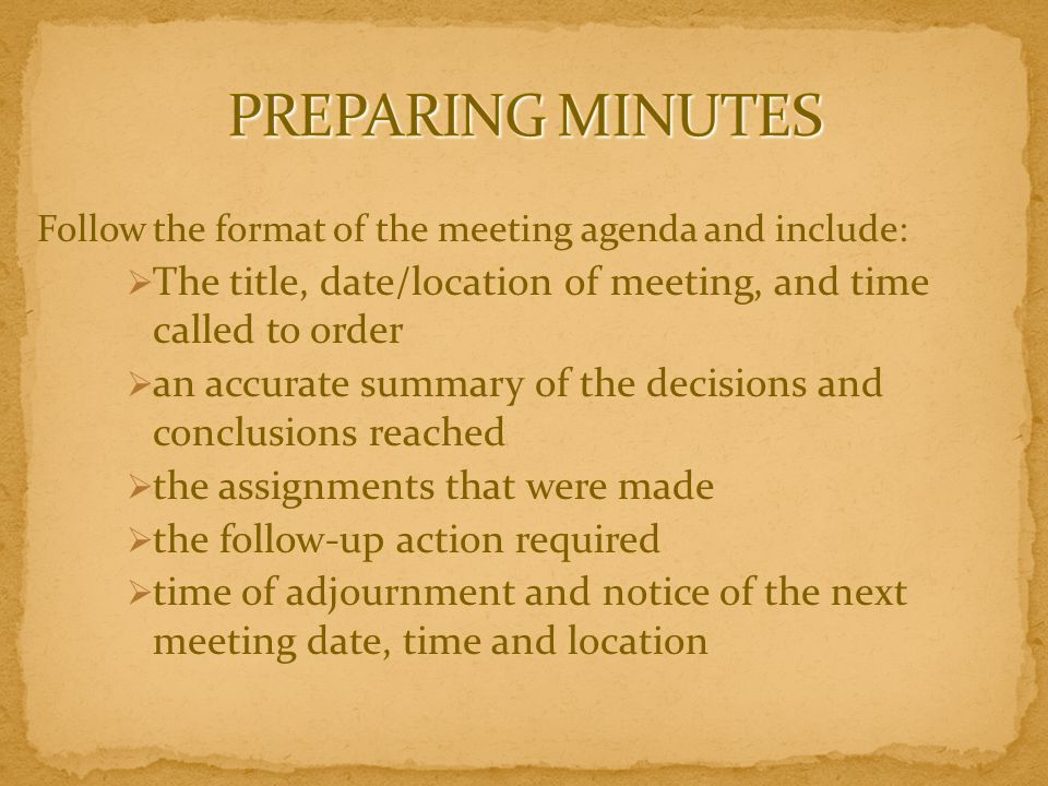 CONDUCTING AN EFFICIENT MEETING - ppt download