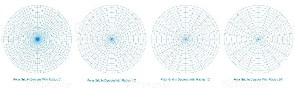 Blank Polar Grid In Degrees Vector Protractor Pie Chart Vector ...