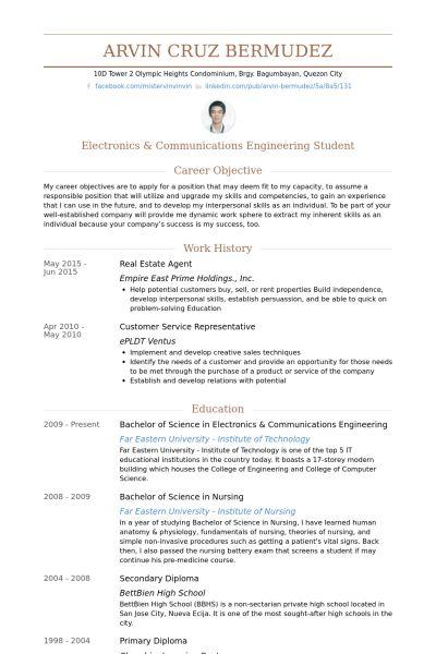 Real Estate Agent Resume samples - VisualCV resume samples database