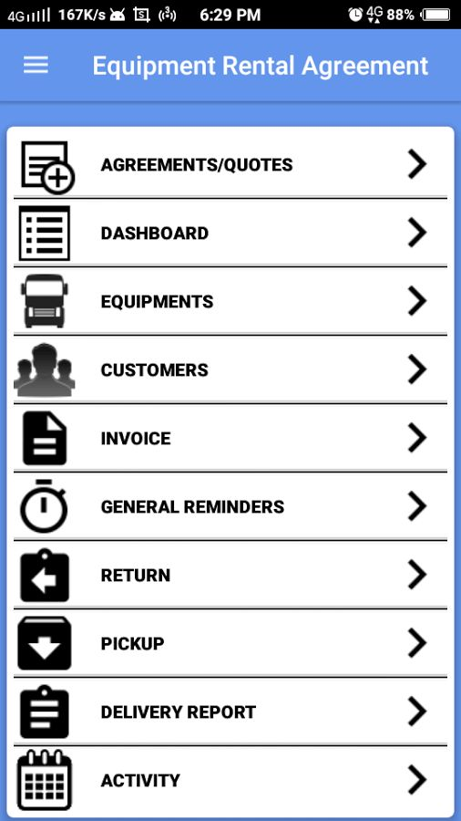 Equipment Rental Management - Android Apps on Google Play