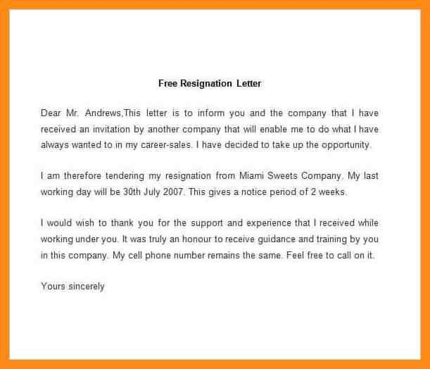 8+ sample resignation letter doc – azzurra castle grenada