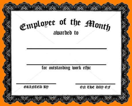 7+ employee of the month certificate | nypd resume