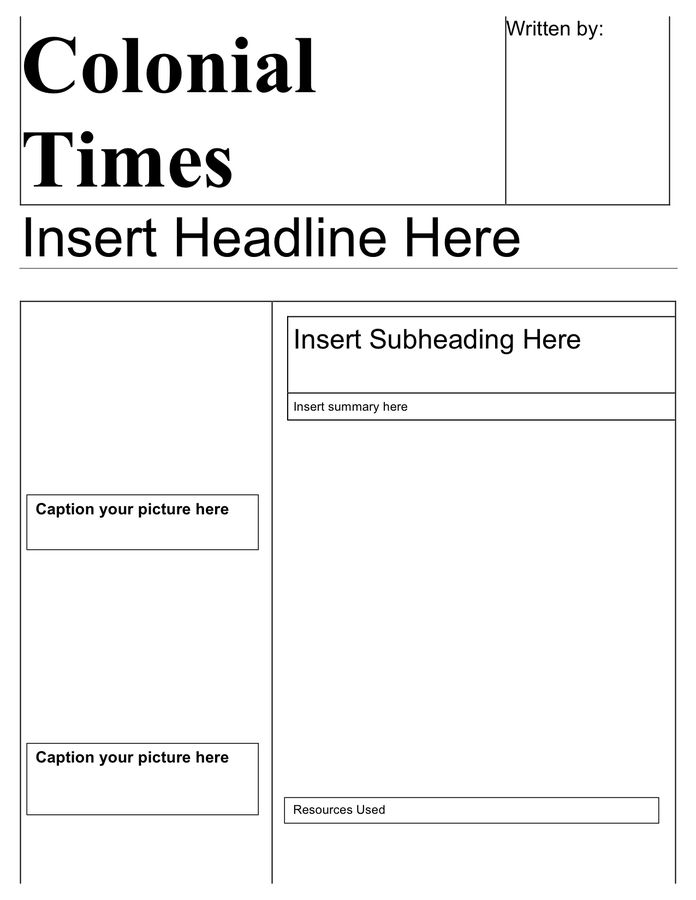 Newspaper Template - download free documents for PDF, Word and Excel