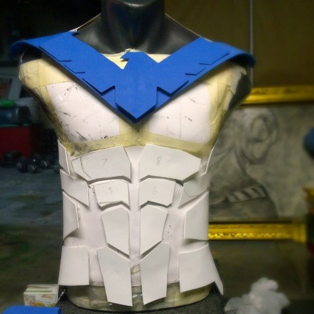 lowonweb:Opinions. My new nightwing armor. used foam to make ...