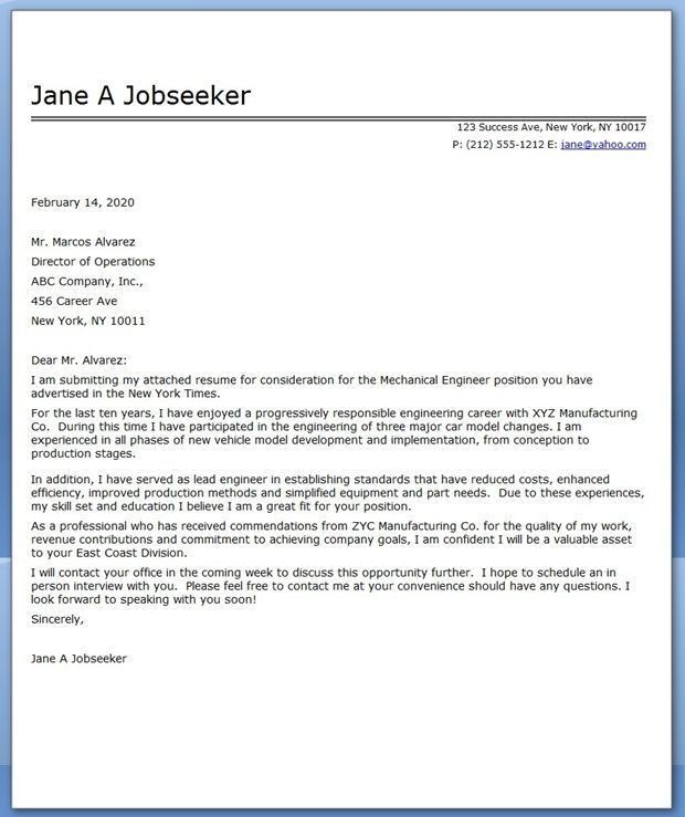 image result for electrical engineering cover letters ...