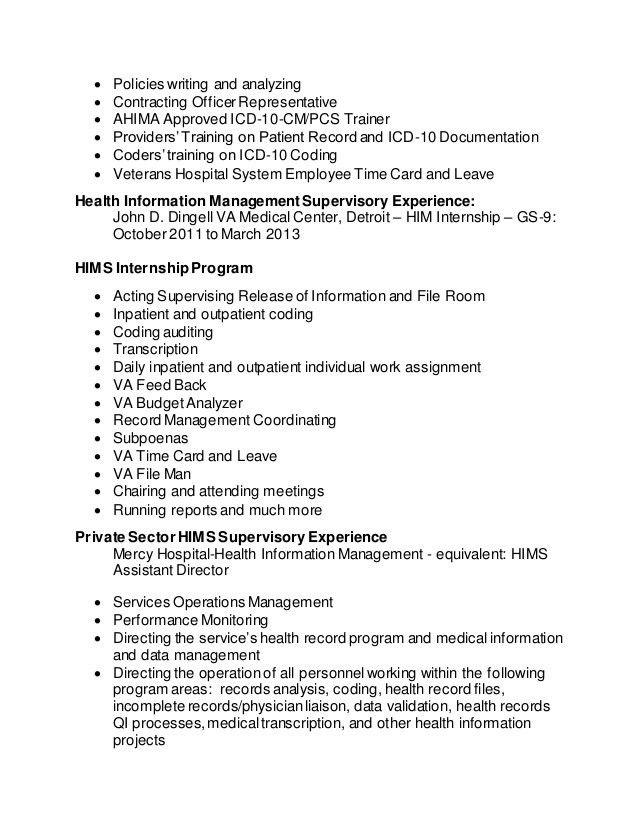 Health Information Management Resume - Contegri.com