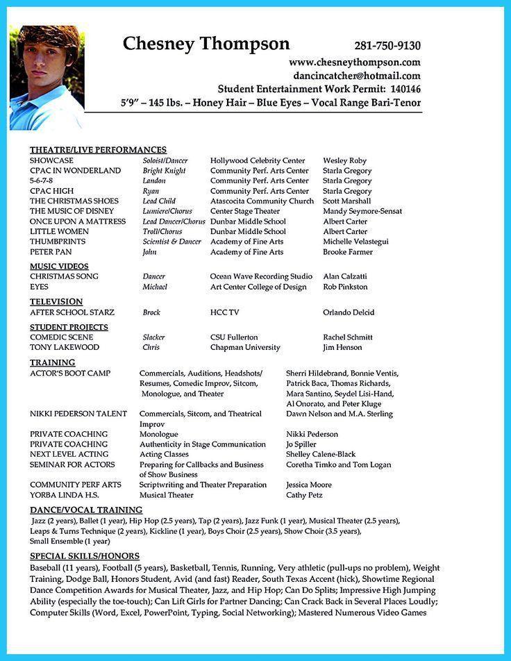 Dancer Resume, 17 best resumes! images on pinterest resume ideas ...