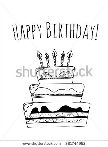 Happy Birthday Card Template Birthday Presents Stock Vector ...