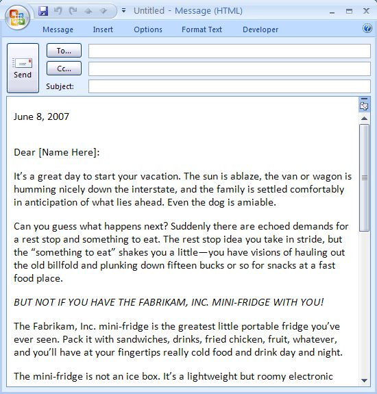 Download message letter templates and open with microsoft word ...
