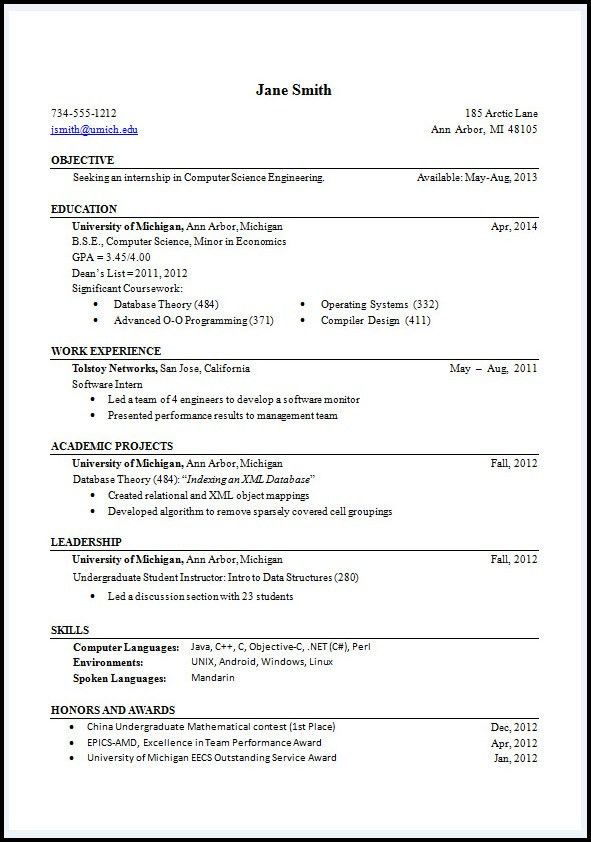 Resumes Format. Google Resume Format 93 Astonishing What Is The ...