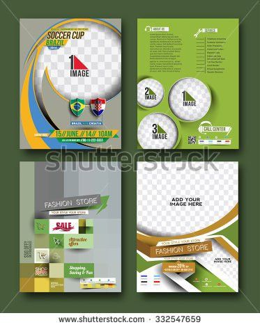 Poster Flyer Template Circle Abstract Background Stock Vector ...