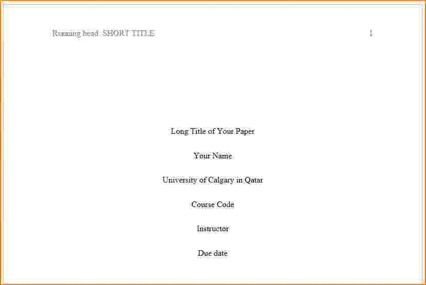 8+ how to do a title page in apa | bibliography format