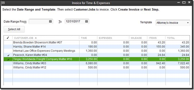 QuickBooks for Law Firms: Time, Expenses and Invoicing - Accountex ...