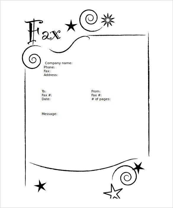 fax cover example black style. download free fax cover sheet to ...