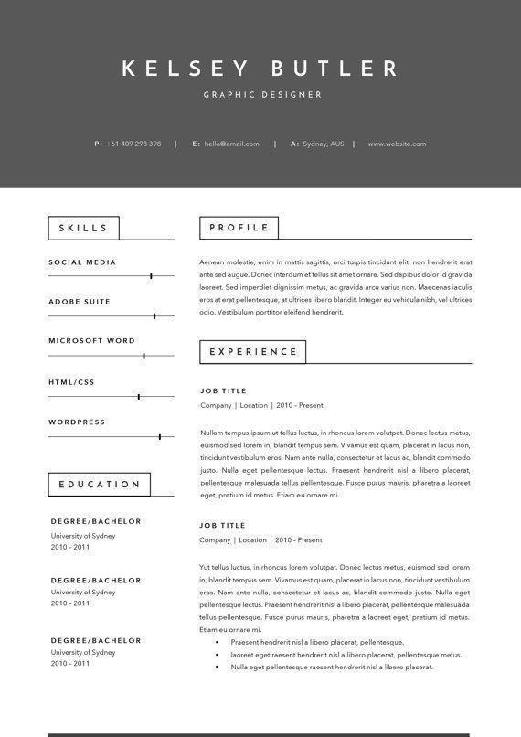 13 best CV Template images on Pinterest | Cv template, Resume ...