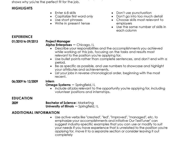 Perfect Resume Example - CV Resume Ideas