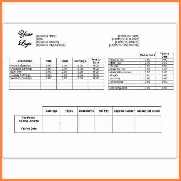sample pay stub with deductions