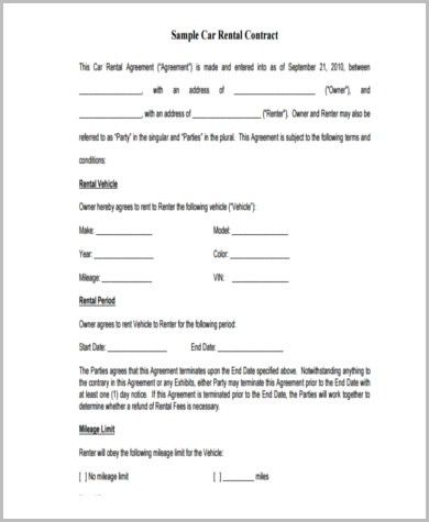 Sample Sublease Contract Form - 8+ Examples in Word, PDF