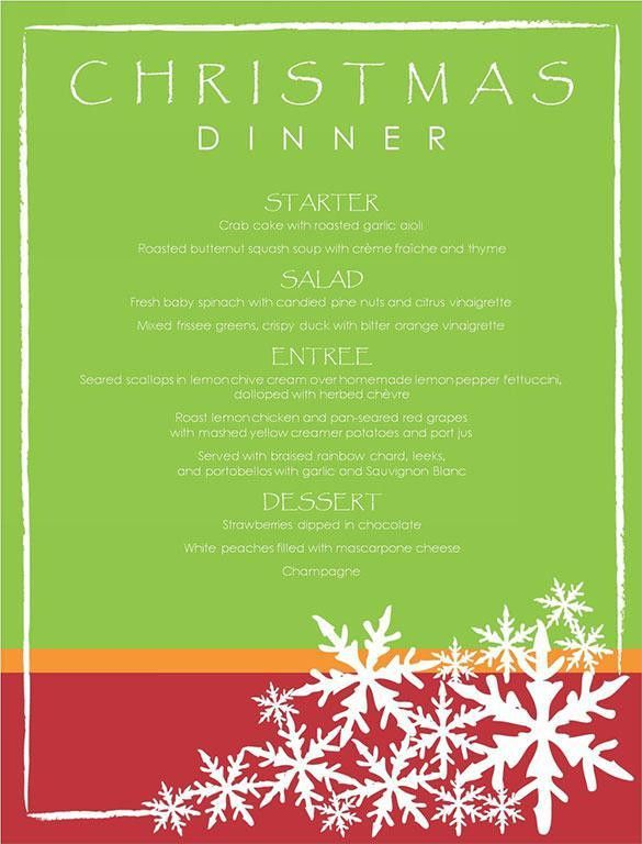 Christmas Menu Templates | Download Free U0026 Premium Templates .  Free Xmas Menu Templates