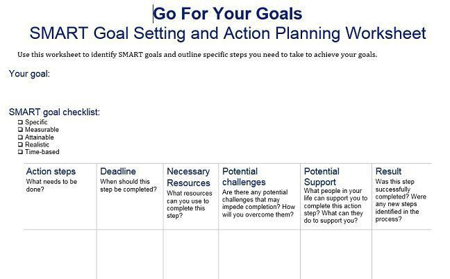 40 + SMART Goals Templates : Ready to Use Excel, PDF, Word ...