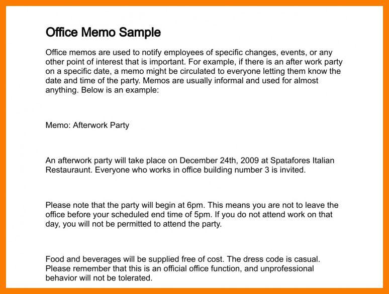 8+ memorandum example letter | park-attendant