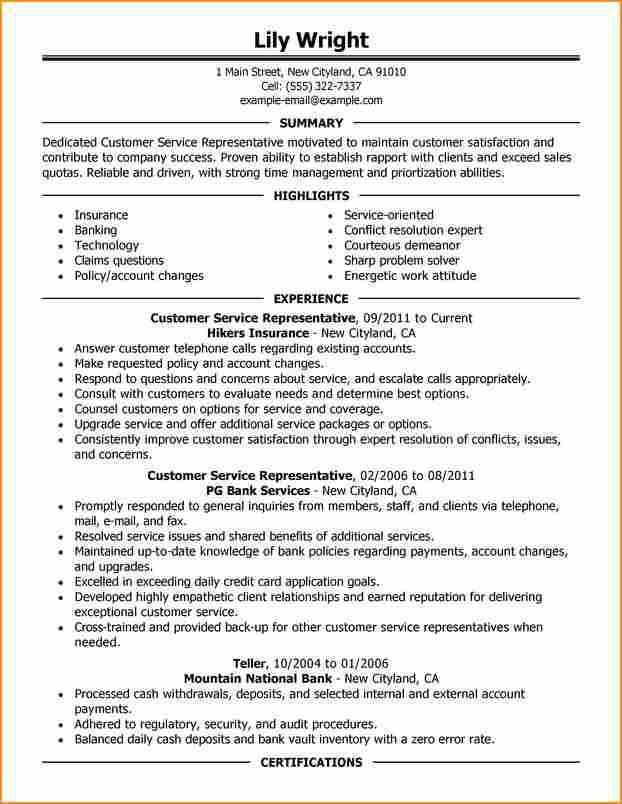 resumes for customer service objective statement for a customer ...
