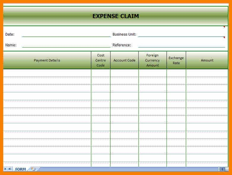 8+ expenses template | monthly budget forms