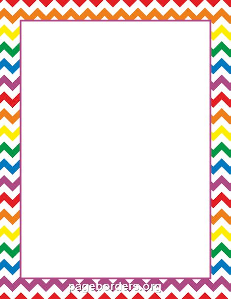 Rainbow Chevron Border | Intensamente | Pinterest | Chevron ...
