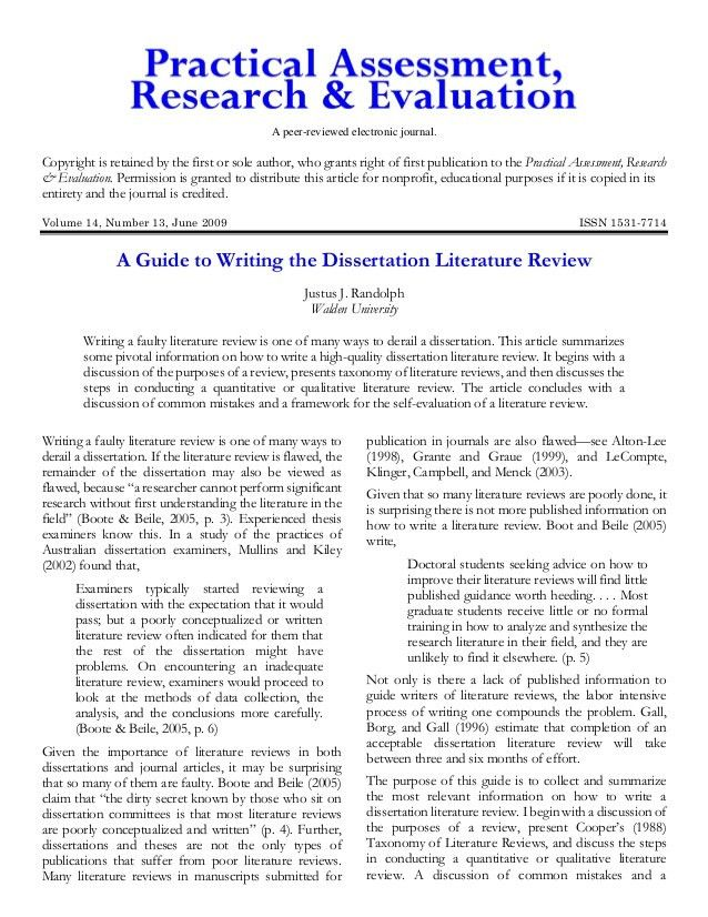 Review essay guide