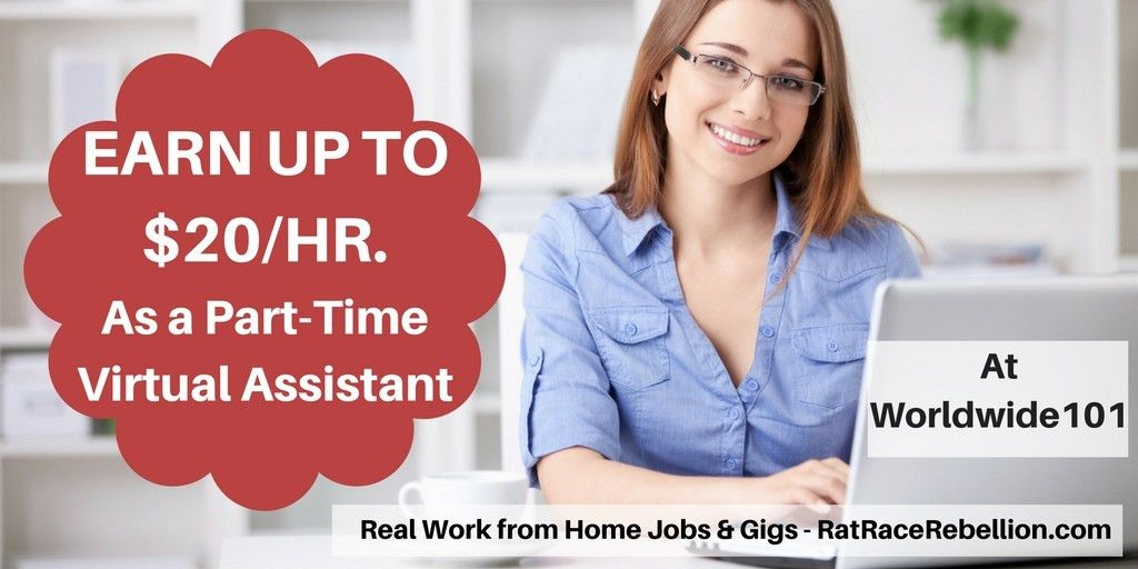 Earn Up to $20/Hour as a Virtual Assistant at Worldwide101 - Real ...