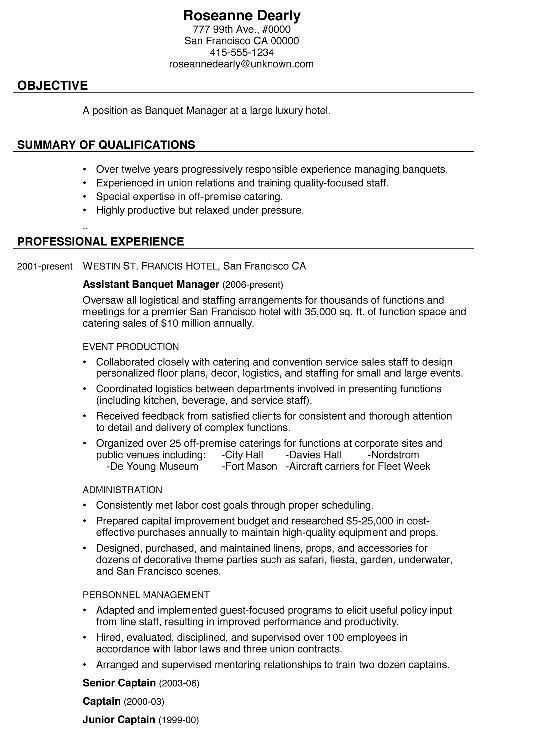 Shining Ideas Catering Manager Resume 14 Catering Manager Resume ...