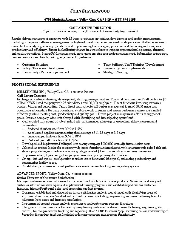 Download Customer Service Call Center Resume ...
