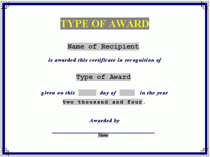 Editable Award Certificate Of Achievement Template Paper For ...