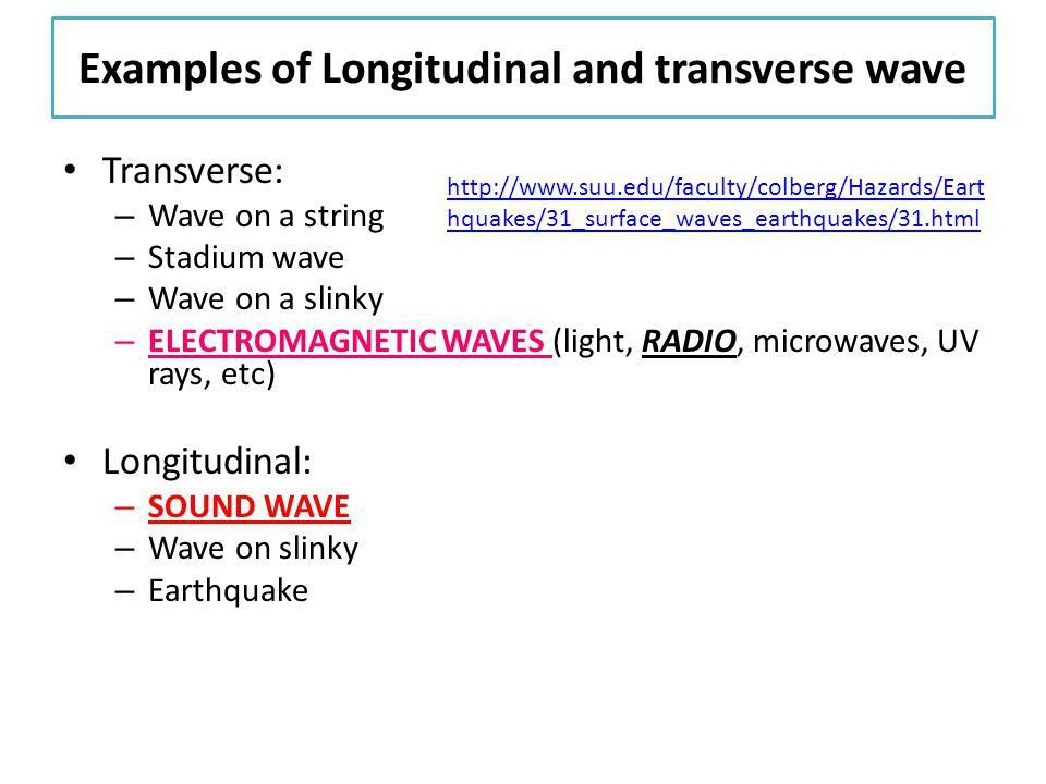 12-3 properties of waves 1.Distinguish local particle vibrations ...