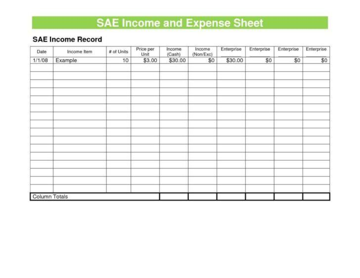 Expense Sheet. Free Expense Report Template 8+ Expense Report ...