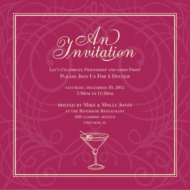 8 Impressive Invitation Card Format For Party | neabux.com