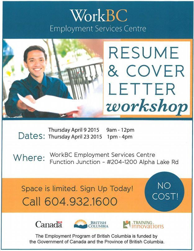 WorkBC Job Search Workshops - Whistler April 2015
