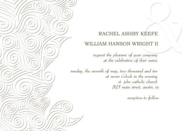 Wedding Invitation Card Design Template | Lake Side Corrals