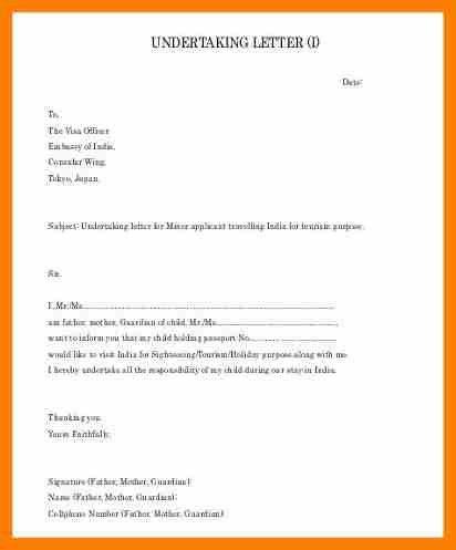 6+ undertaking letter example   science-resume