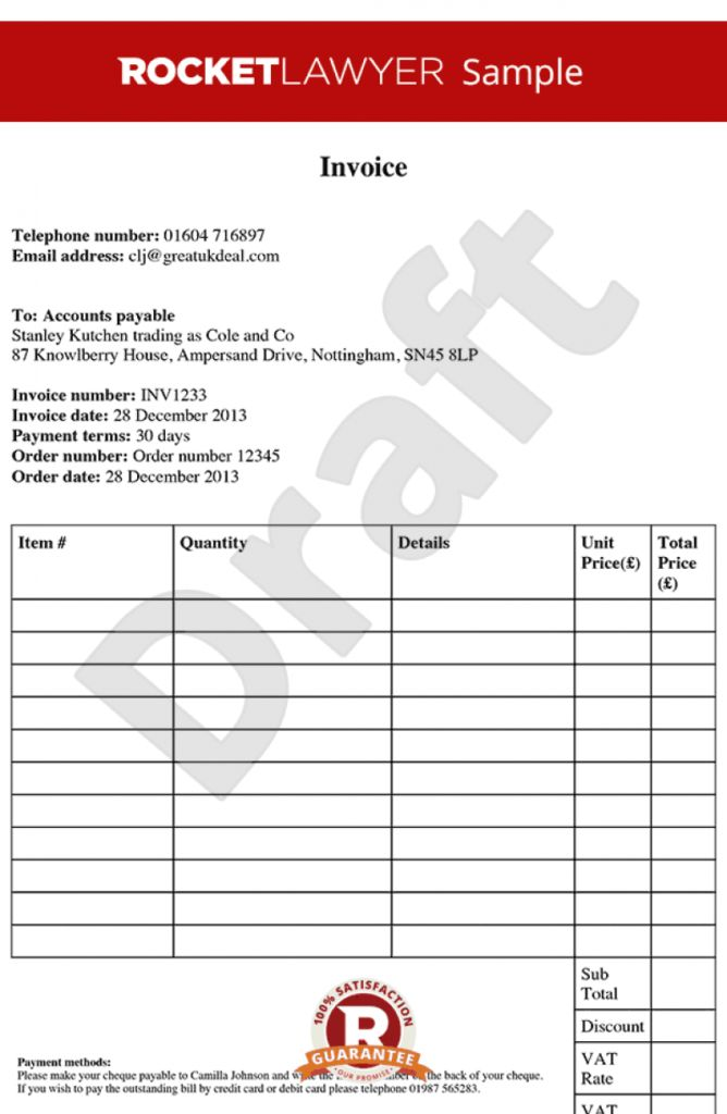 Download Invoice Terms and Conditions Template Uk | rabitah.net